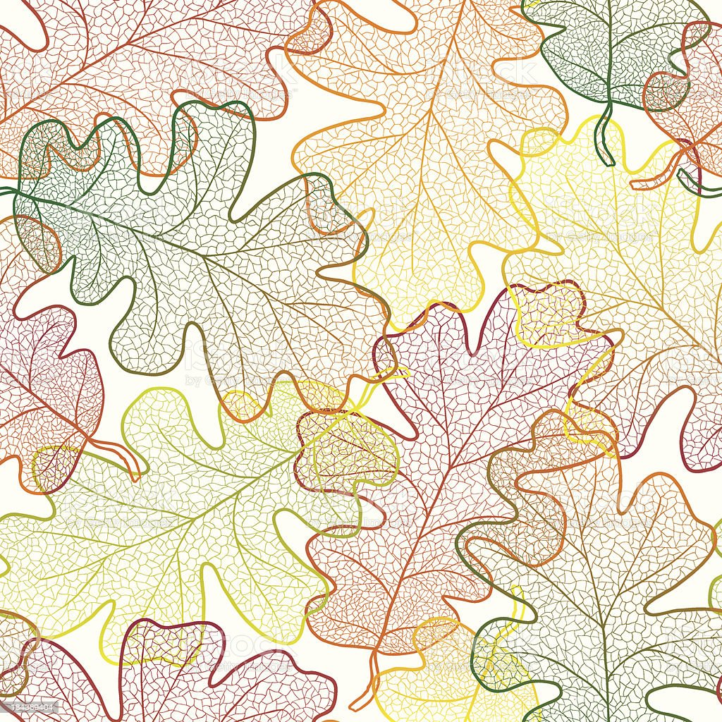 Autumn transparent maple leaves pattern background. Fabric texture. royalty-free stock vector art