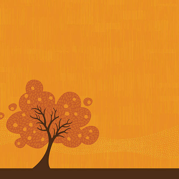 Autumn tree background illustration vector art illustration