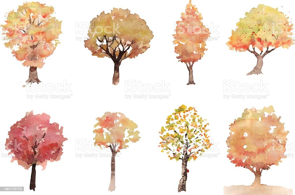 tree de otoño - ilustración de arte vectorial