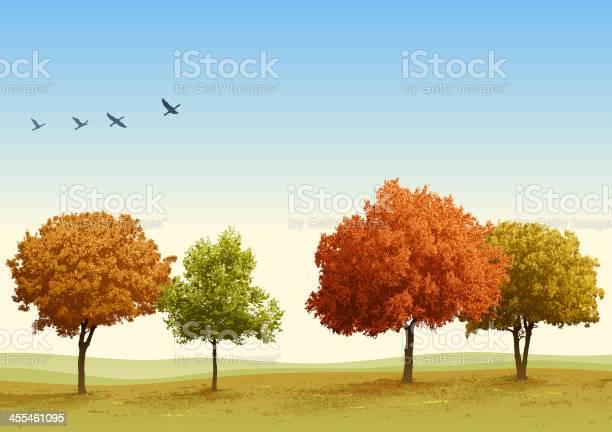 Autumn Trees Stock Illustration - Download Image Now