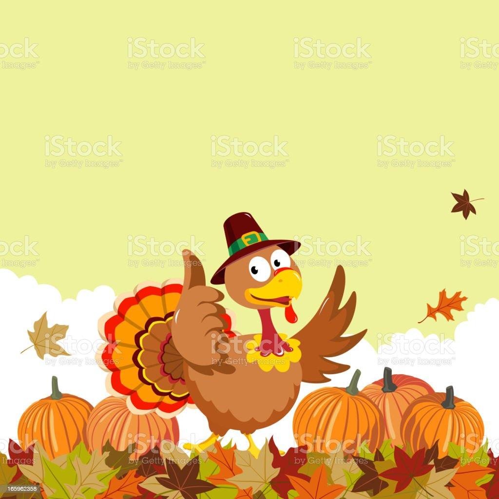 Autumn Turkey royalty-free stock vector art
