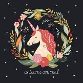Autumn Unicorn illustration