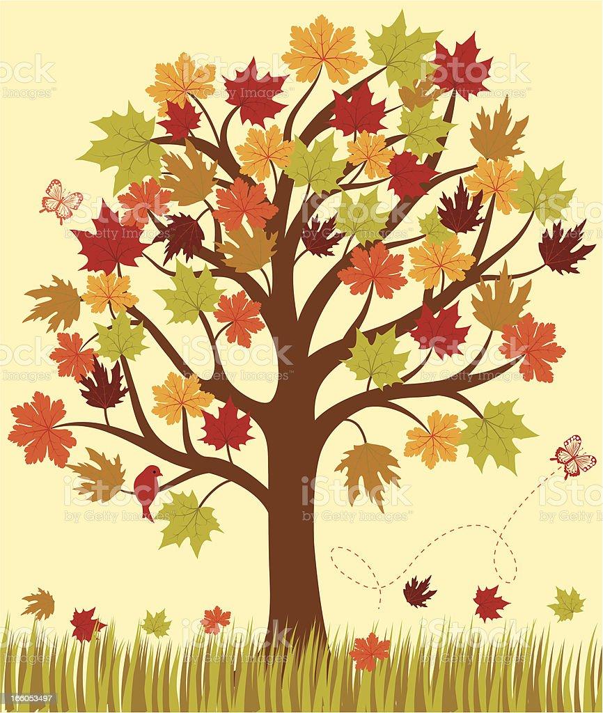Autumn vector background . royalty-free stock vector art