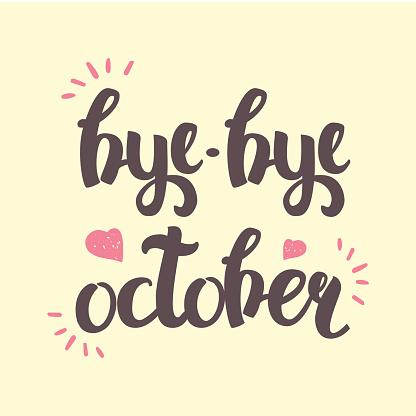 autumn vector lettering