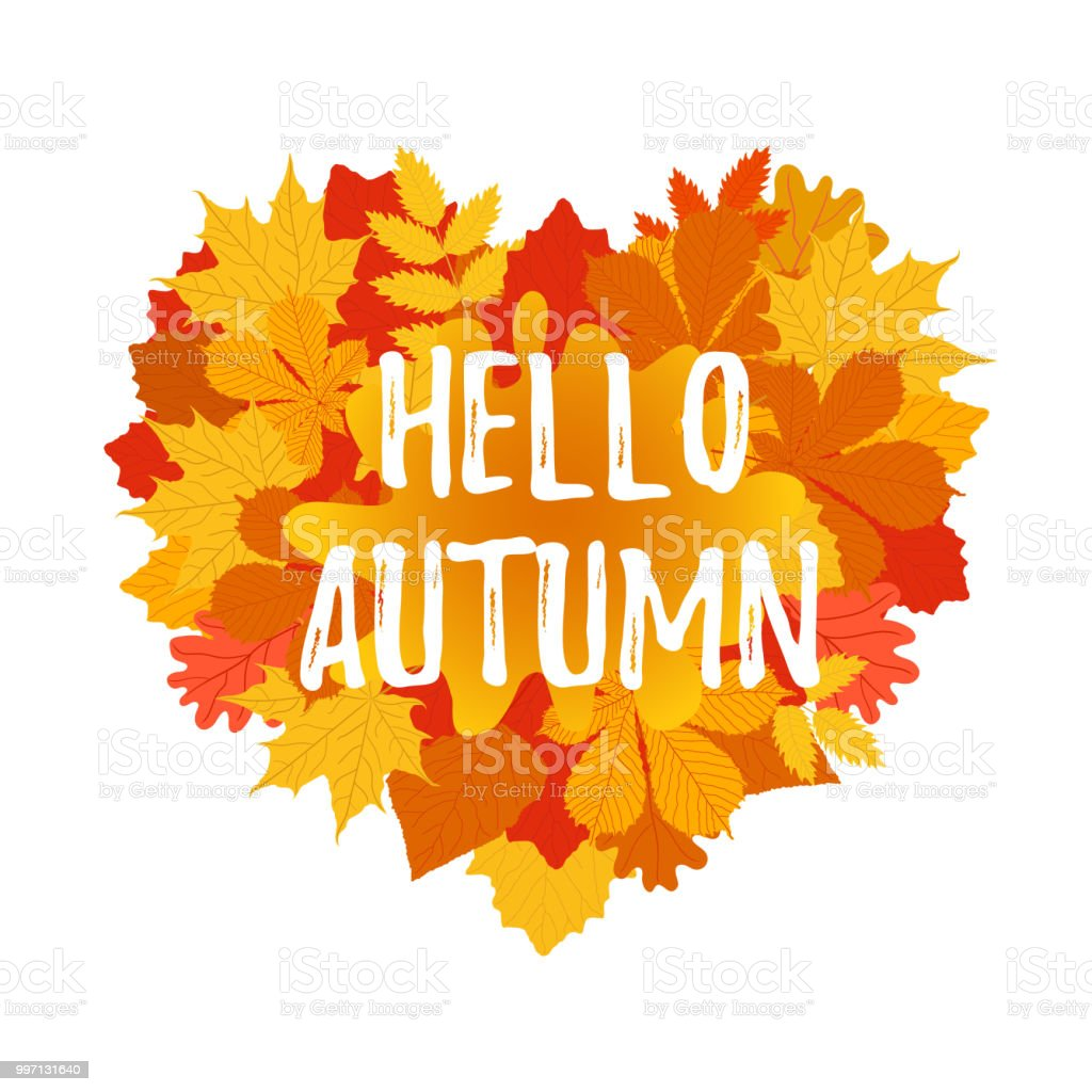 Autumn Welcome Flyer Colorful Template With Bright October Leaves