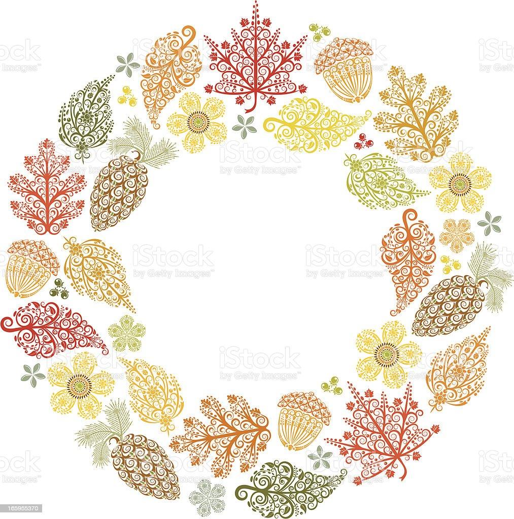 秋のリース のイラスト素材 165955370 | istock