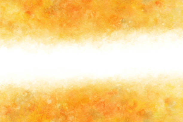 autumn yellow color abstract on natural watercolor hand paint background, vector illustration autumn yellow color abstract on natural grunge watercolor hand paint background, vector illustration autumn backgrounds stock illustrations