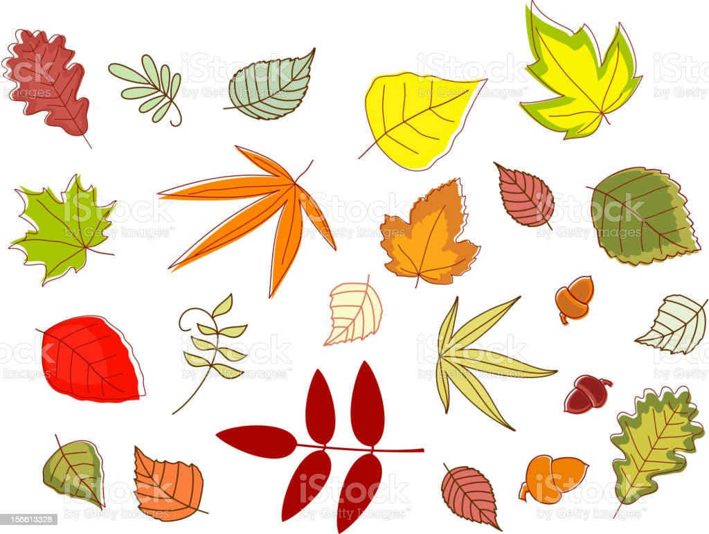 Autumnal colorful leaves royalty-free autumnal colorful leaves stock vector art & more images of autumn