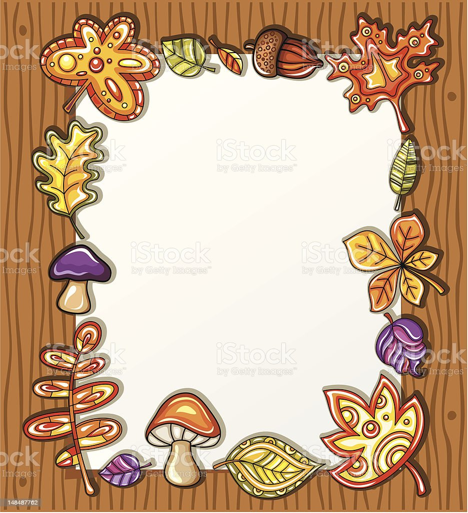 Autumnal frame royalty-free stock vector art