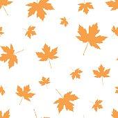 Autumnal Maple Leaf seamless pattern