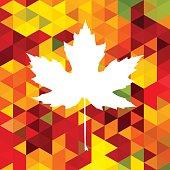 Autumnal Maple Leaf triangle
