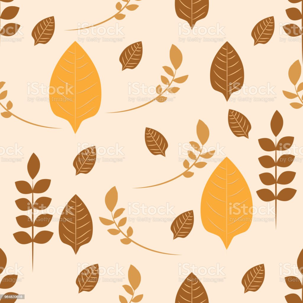 Autumnal repeat pattern of leaves and stems with range of browns and beiges. Ideal for soft fabrics. royalty-free autumnal repeat pattern of leaves and stems with range of browns and beiges ideal for soft fabrics stock vector art & more images of autumn