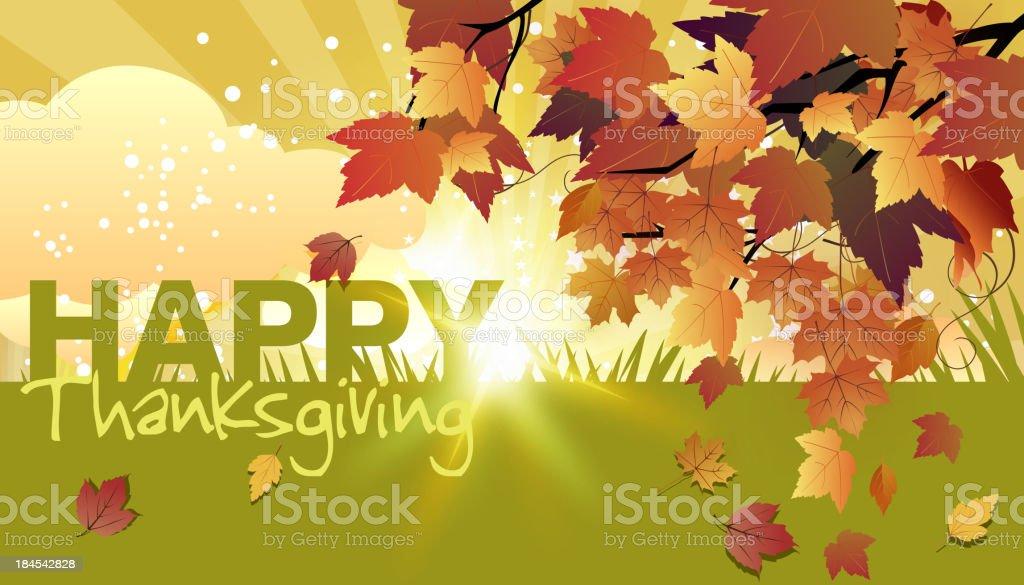 Autumn/Thanksgiving Background royalty-free stock vector art