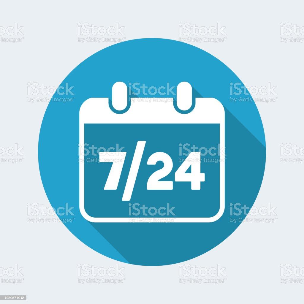 724 Availability Calendar Vector Web Icon Stock Illustration