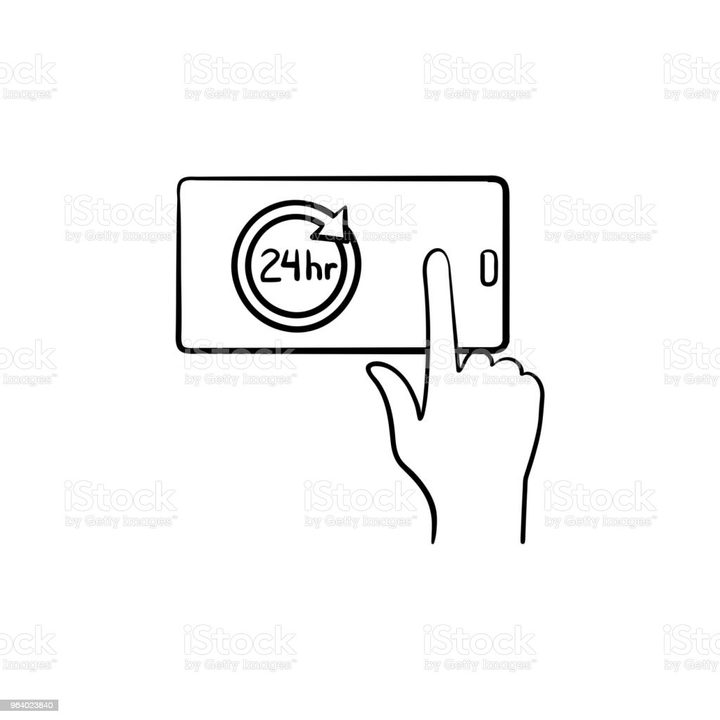 Availability hand drawn outline doodle icon - Royalty-free Accessibility stock vector