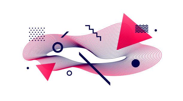 avantgarde-stil abstrakte abbildung - avantgarde stock-grafiken, -clipart, -cartoons und -symbole
