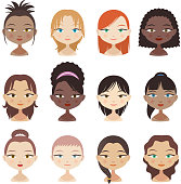 Avatar Avatars Head and Shoulder People Profile Girl Faces