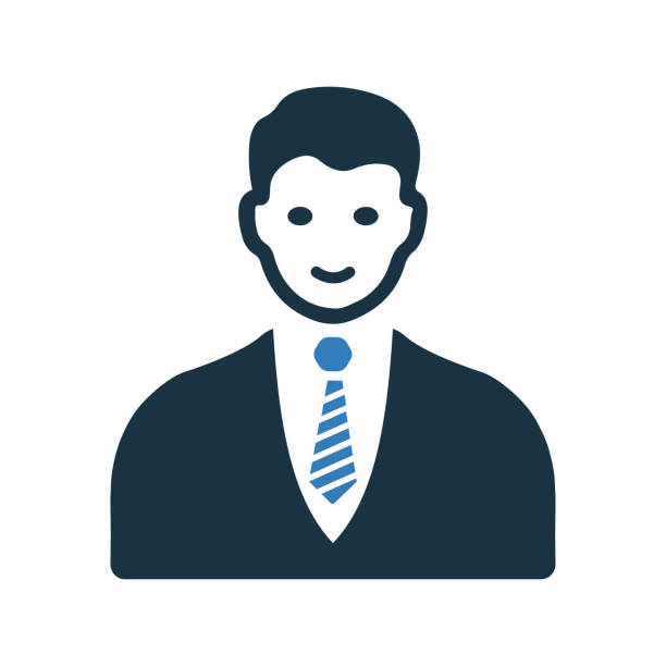 bildbanksillustrationer, clip art samt tecknat material och ikoner med avatar, affärsman, man, användarikon - endast en man