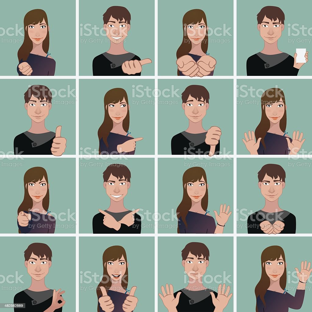 Avatar Collection vector art illustration