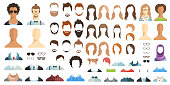 Avatar constructor. Haircuts, glasses, clothes.