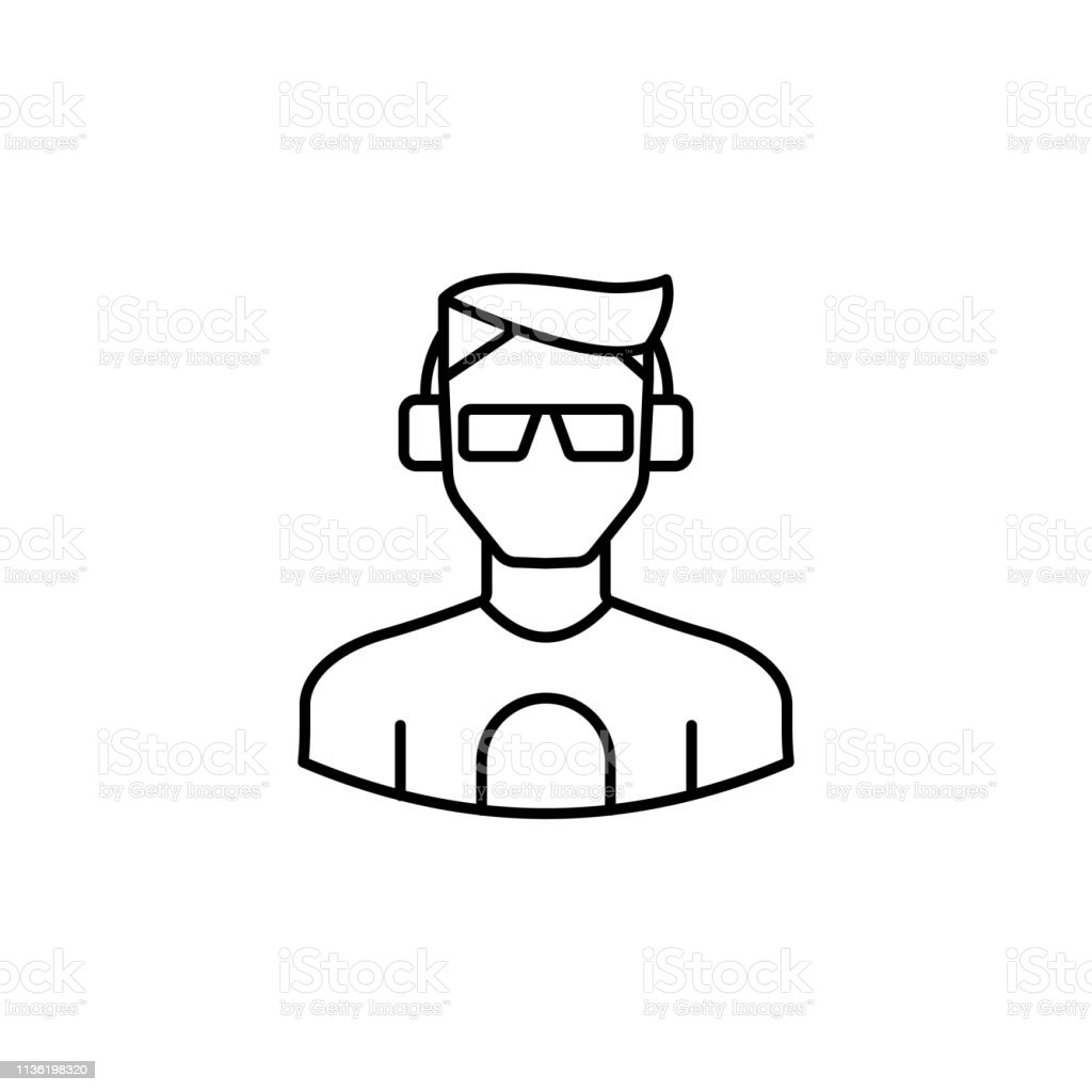 Avatar Dj Outline Icon Signs And Symbols Can Be Used For Web Logo