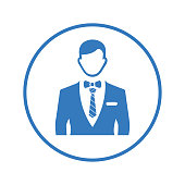 Creative element design from stock market icons collection. Pixel perfect Avatar, fashion, boss, men clothing icon for commercial, print media, web or any type of design projects.