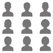 avatar, head silhouette