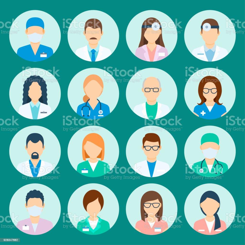 阿凡達醫院工作人員 - 免版稅人圖庫向量圖形
