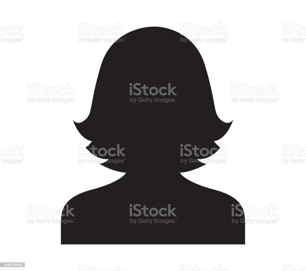 Avatar Icon Design for Woman vector art illustration
