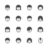 Avatar Icon Gray Series Vector EPS File.