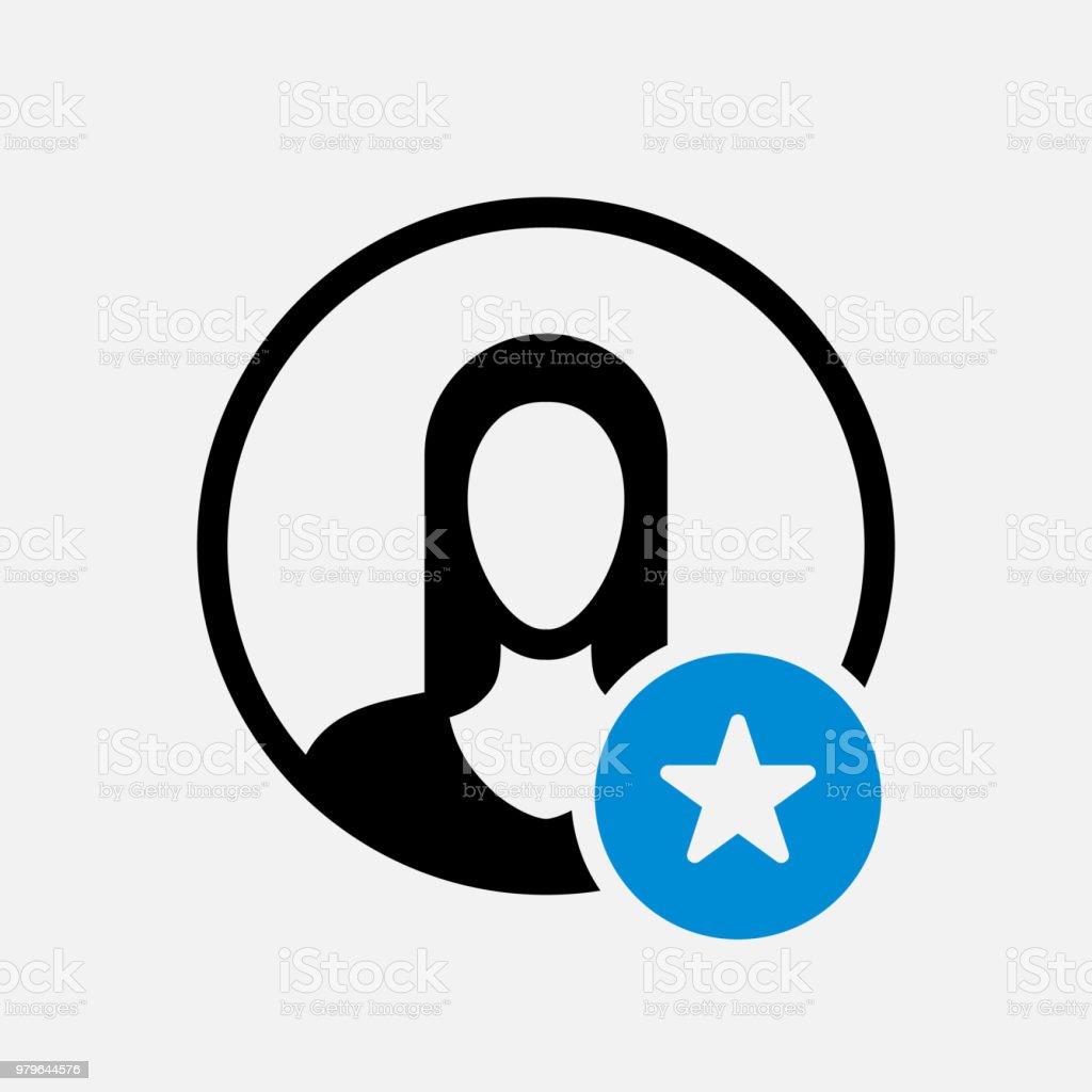 Avatarsymbol Symbol Einer Person Mit Sternzeichen Avatarsymbol Und ...
