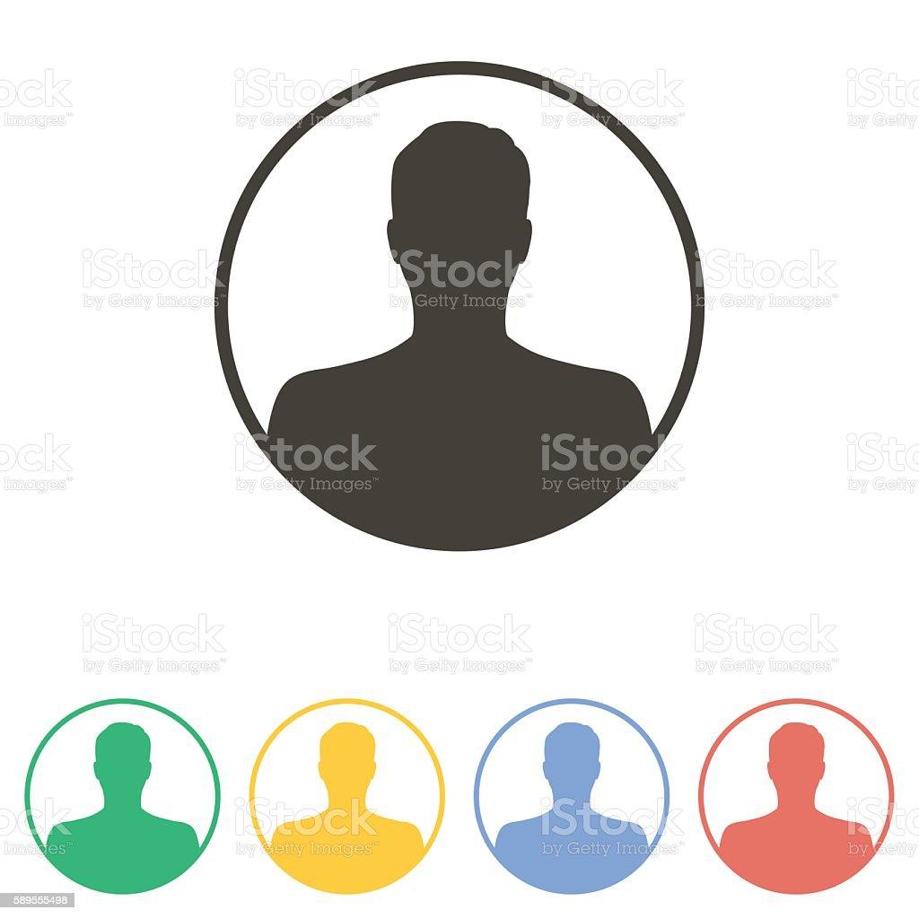 Avatar  icon vector art illustration