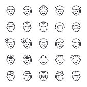 Avatar, people, occupation, icon, icon set, emoticon, face