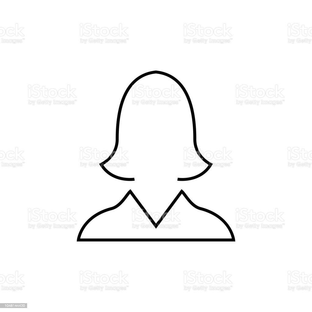 Avatar De Conception Web Linaire Femmes Icne Ou Signes Ligne Mince Mobile App La