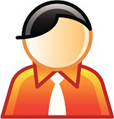 Avatar of an office worker on white background. Created in Adobe Illustrator.