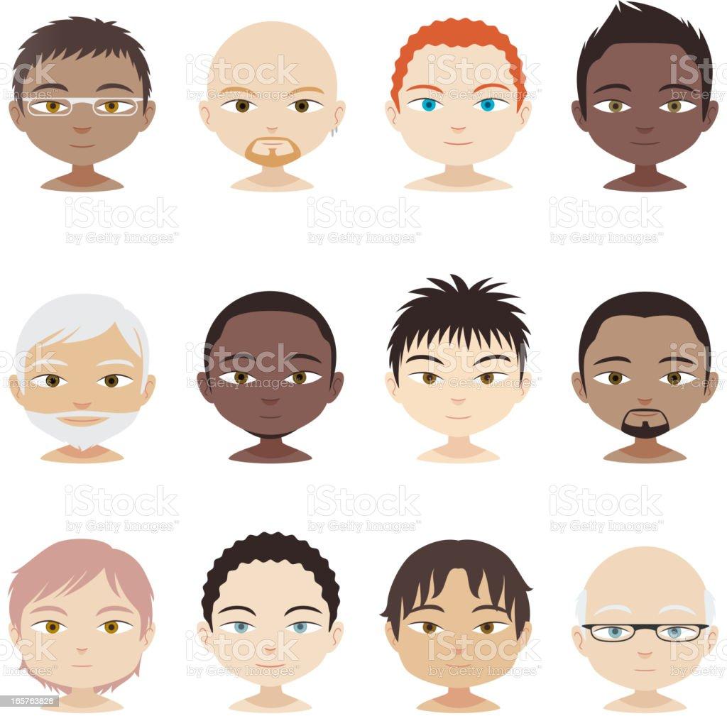 Avatar Profile Avatars Head And Shoulder People Man Men