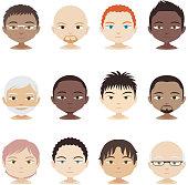 Avatar Profile Avatars Head and Shoulder People Man Men faces