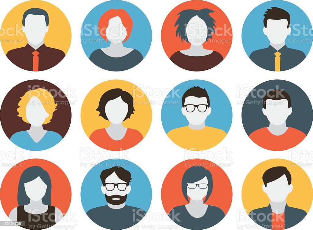 Avatars - Characters vector art illustration