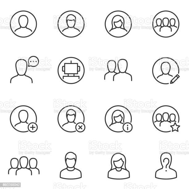 Avatars for user interface icons set line with editable stroke vector id892255042?b=1&k=6&m=892255042&s=612x612&h=3jki2dbqicthlrhmclt7rm10vgtg5bexcrl5jqqxobk=