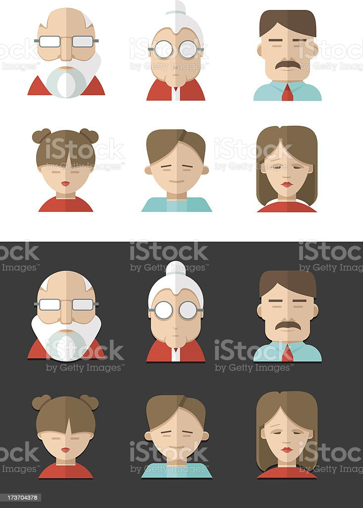 Avatars of different people ages royalty-free avatars of different people ages stock vector art & more images of adult