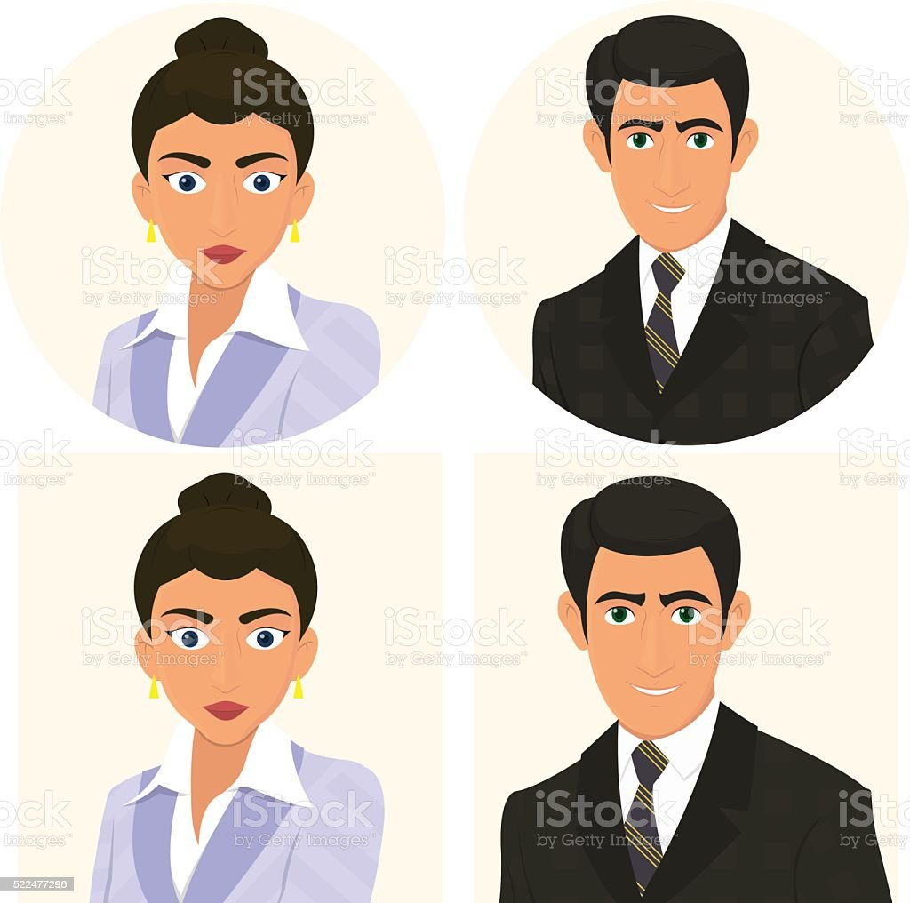 Avatars Of Men And Women In Business Suits Stock Vector Art More