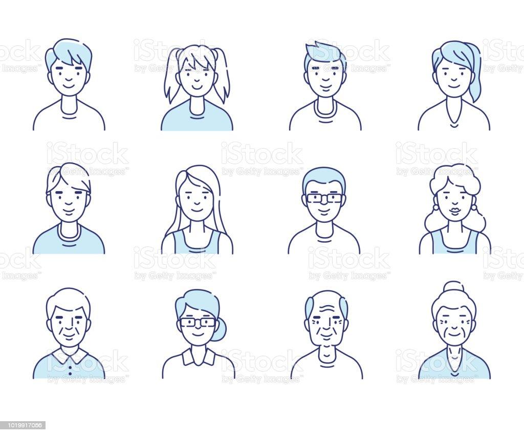 avatars vector art illustration