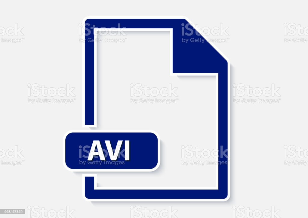 avi video file vector art illustration