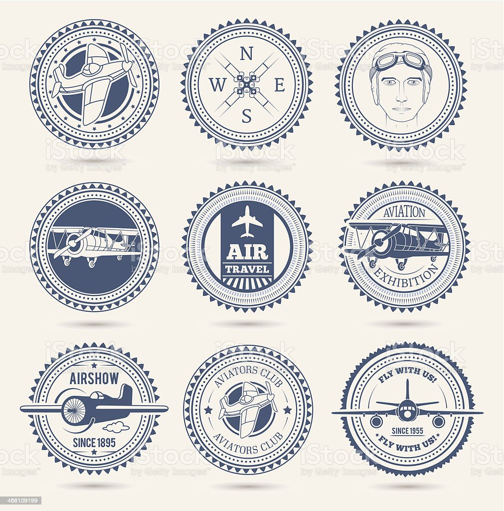 Aviation badges royalty-free aviation badges stock vector art & more images of above