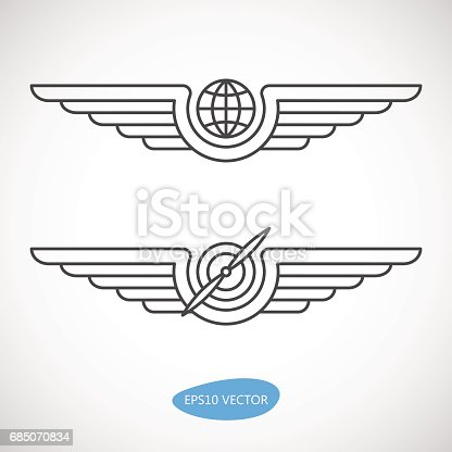 istock Aviation emblems, badges and logo patches 685070834