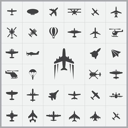 aviation icons universal set