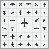 aviation icons universal set