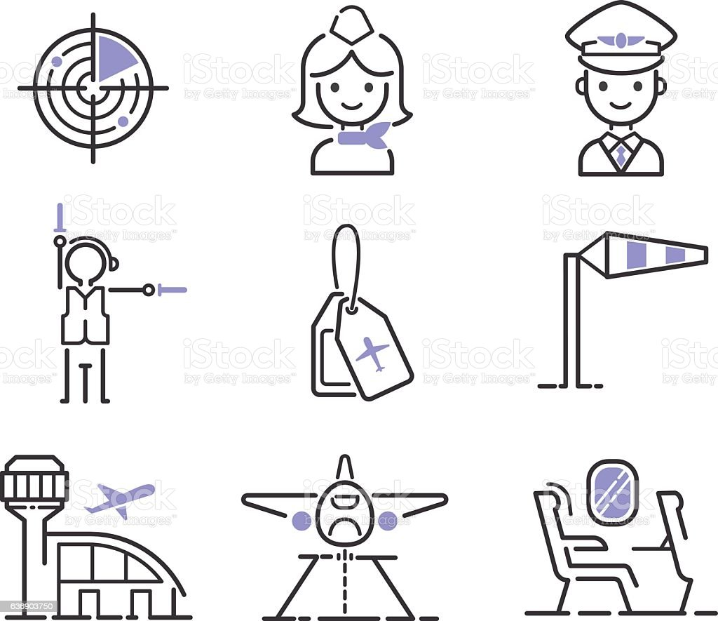 aviation icons vector set stock vector art  u0026 more images