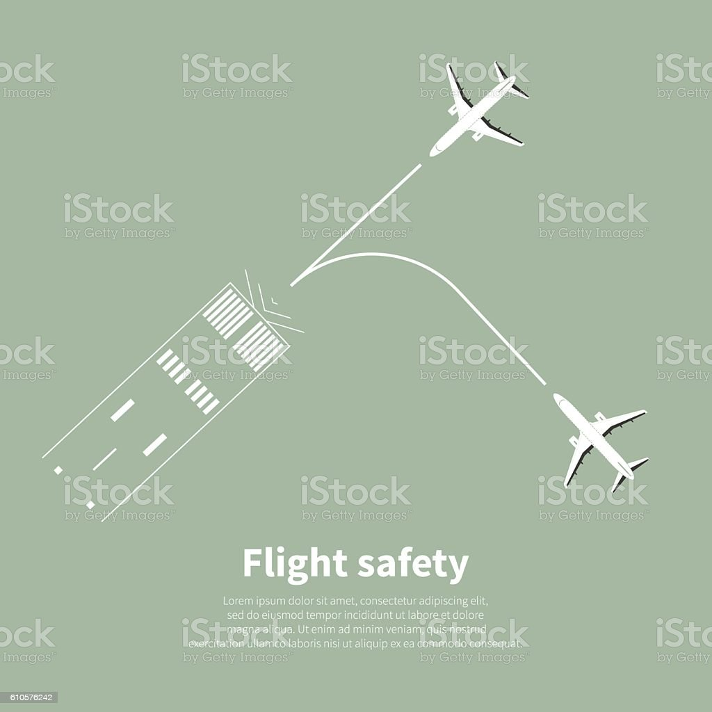 Aviation safety vector art illustration