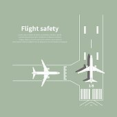 Aviation safety infographic. Scene 3. Vector illustration.